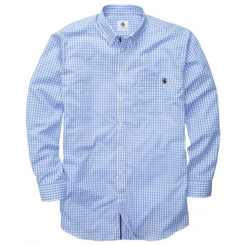 The Goal Line Shirt - Blue Gingham